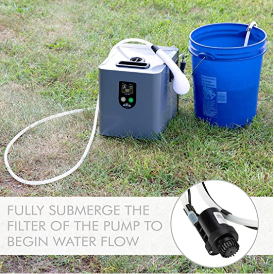 Portable Water Heater and shower pump